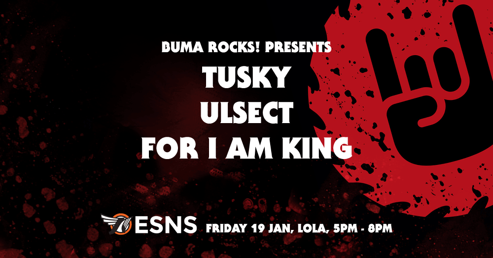 Buma rocks presents for i am king ulsect and tusky at eurosonic